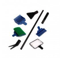 Set Pulizia Acquario 5 In 1 Raschietto Retino Spugna Lametta Cleaning Set