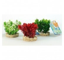 Sydeco Pianta Finta Nano Grass Bush 8 Cm Decorazione Acquario