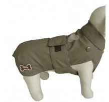 Fussdog Cappotto Impermeabile Double Con Osso Ricamato Interno Staccabile Colore Marrone Abf23