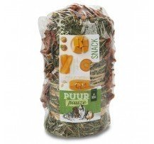 Puur Pauze Hay Roll Vegetables 200 Gr. Snack Per Conigli Piccoli Animali