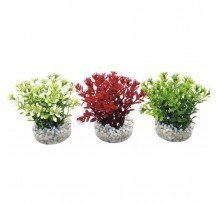 Sydeco Pianta Finta Nano Flowering 10 Cm Decorazione Acquario