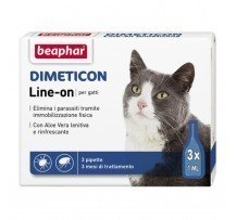 Beaphar Dimeticon Line-on Gatto Antiparassitario Con Aloe Vera 3 Pipette