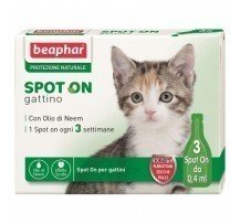 Beaphar Spot On Gattino Antiparassitario Naturale 3 Fiale Per Gatto