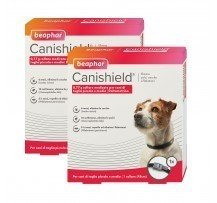 2 Collari Beaphar Canishield Collare Antiparassitario Per Cani Contro Leishmaniosi Small/medium 48cm