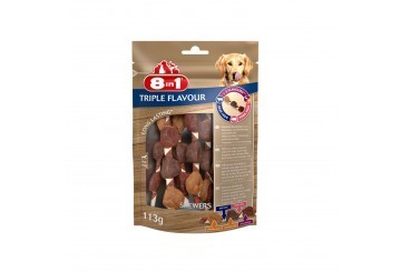 Tetra 8in1 Triple Flavour Skewers 113 Gr Snack Spiedini Per Cane